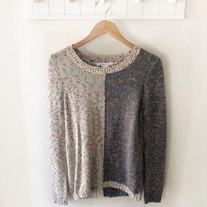 BCBG Two-Toned Open Back Sweater Size Medium